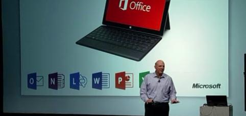 Управление проектами: статьи - Уникальное фото. В ходе презентации Стива Балмера Microsoft Project не был назван в числе компонентов Microsoft Office 2013