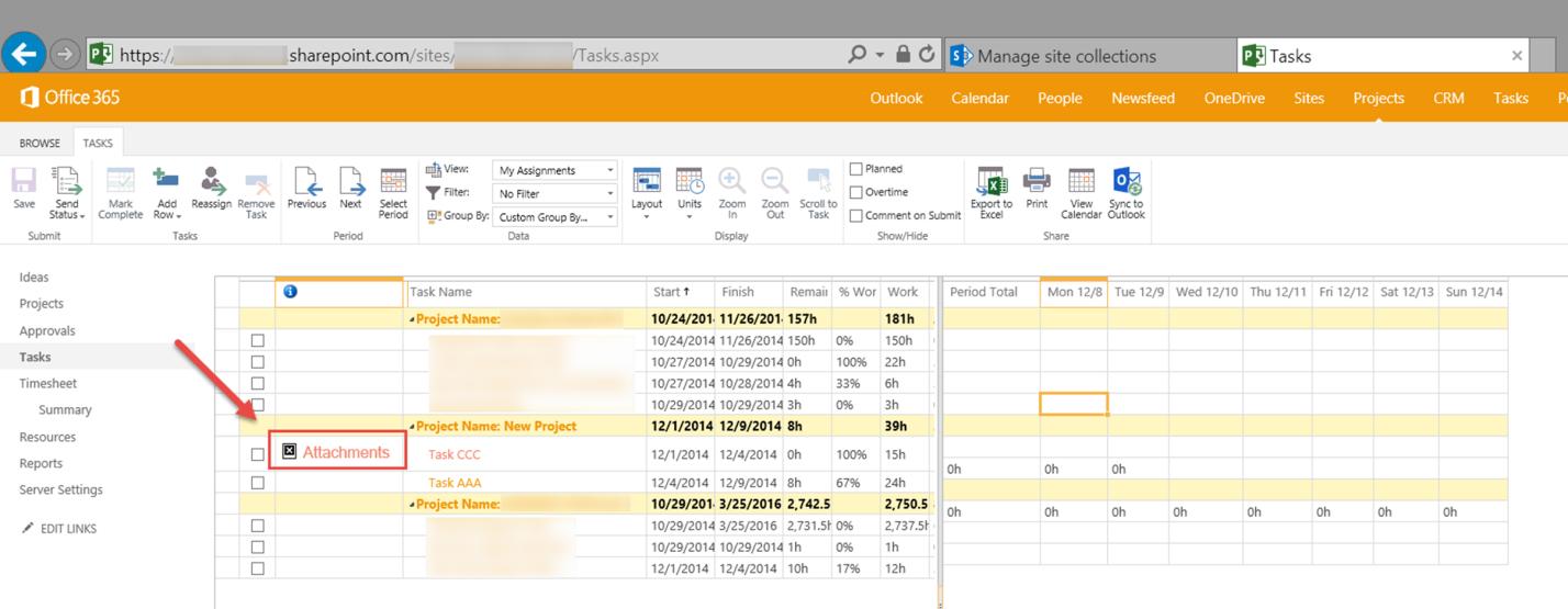 Управление проектами: статьи - Иконка связи задачи с документом пропадает в Office 365